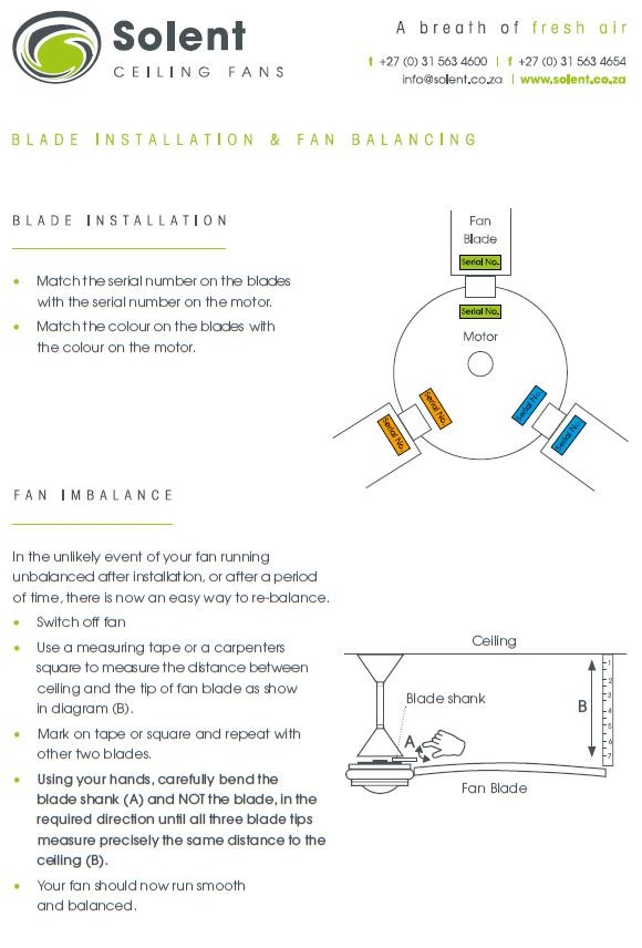 Blade Installation & Fan Balancing